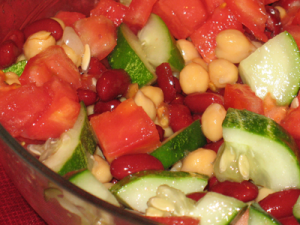 Tomato Cucumber Bean Salad