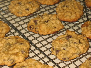 Nearly Vegan Oatmeal Chocolate Chip Cookies