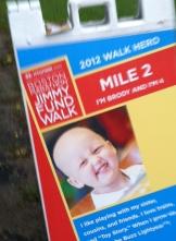 2012 Boston Marathon Jimmy Fund Walk - Mile 2 Marker