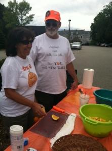 2012 Boston Marathon Jimmy Fund Walk - The Orange Guy