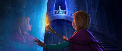 Anna and Elsa, in Elsa's icy fortress