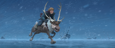 Kristoff and Sven rush to Arendelle