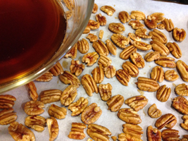 Pecans, ready to be toasted