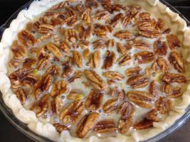 Bourbon Pecan Pie - filled